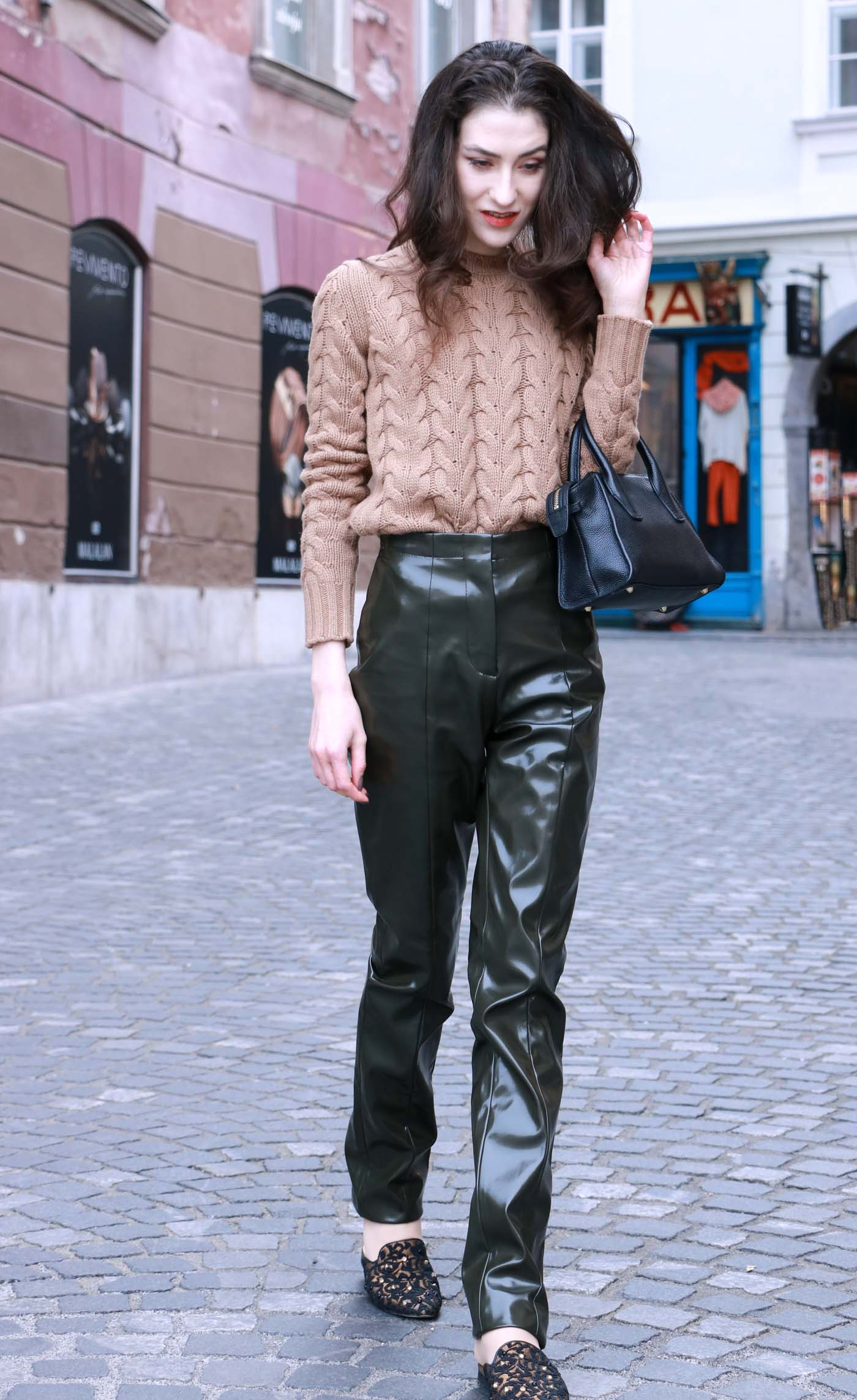Fashion Blogger Veronika Lipar of Brunette from Wall Street on how to wear pull off the vinyl trend