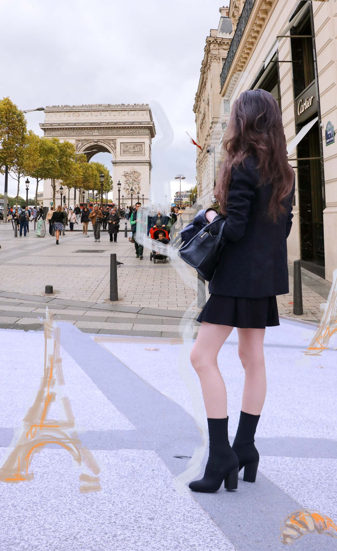 Fashion Blogger Veronika Lipar of Brunette from Wall Street Paris fashion week spring summer 2018 street look