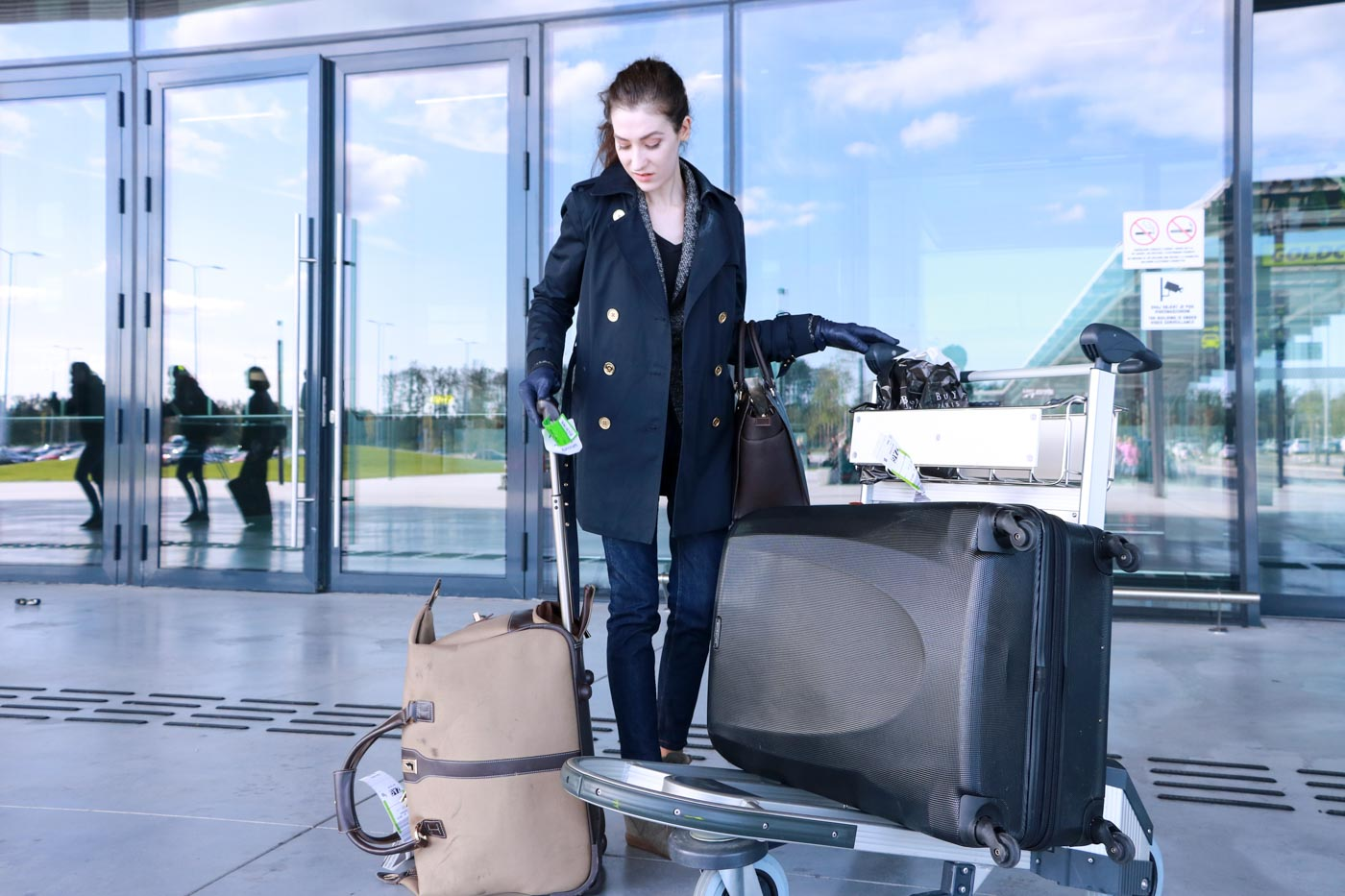 Fashion Blogger Veronika Lipar of Brunette from Wall Street on how to dress to the airport