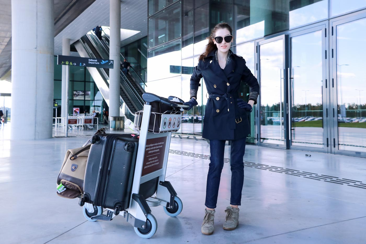 Fashion Blogger Veronika Lipar of Brunette from Wall Street on what to wear to the airport
