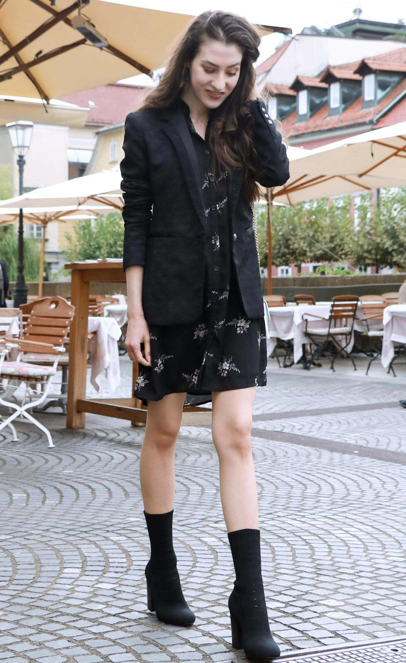 Fashion Blogger Veronika Lipar of Brunette from Wall on how to stay dressed in one outfit from the morning to evening