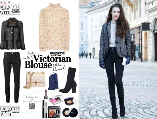 Fashion Blogger Veronika Lipar of Brunette from Wall on casual street style to wear this winter
