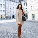 Fashion Blogger Veronika Lipar of Brunette from Wall dressed in outfit that never goes out of the fashion