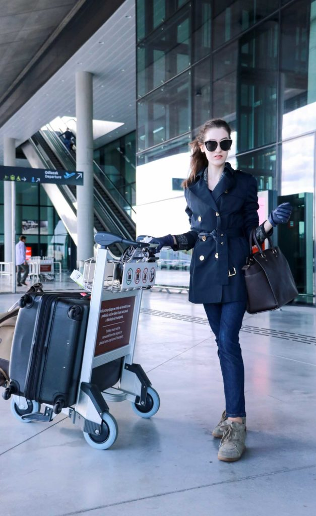 Fashion Blogger Veronika Lipar of Brunette from Wall Street on how to dress for a flight