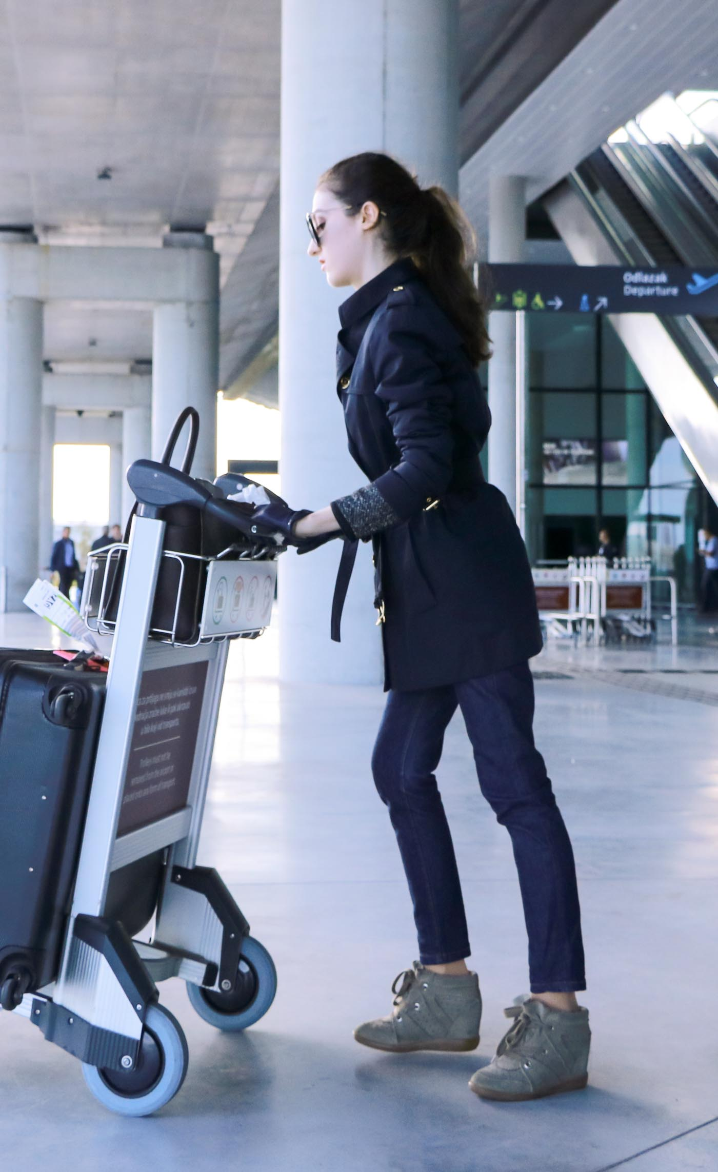 Fashion Blogger Veronika Lipar of Brunette from Wall Street on what to wear when flying