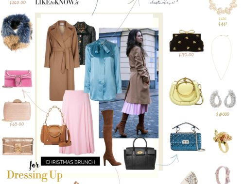 Fashion Blogger Veronika Lipar of Brunette from Wall Street on how to dress up for Christmas brunch
