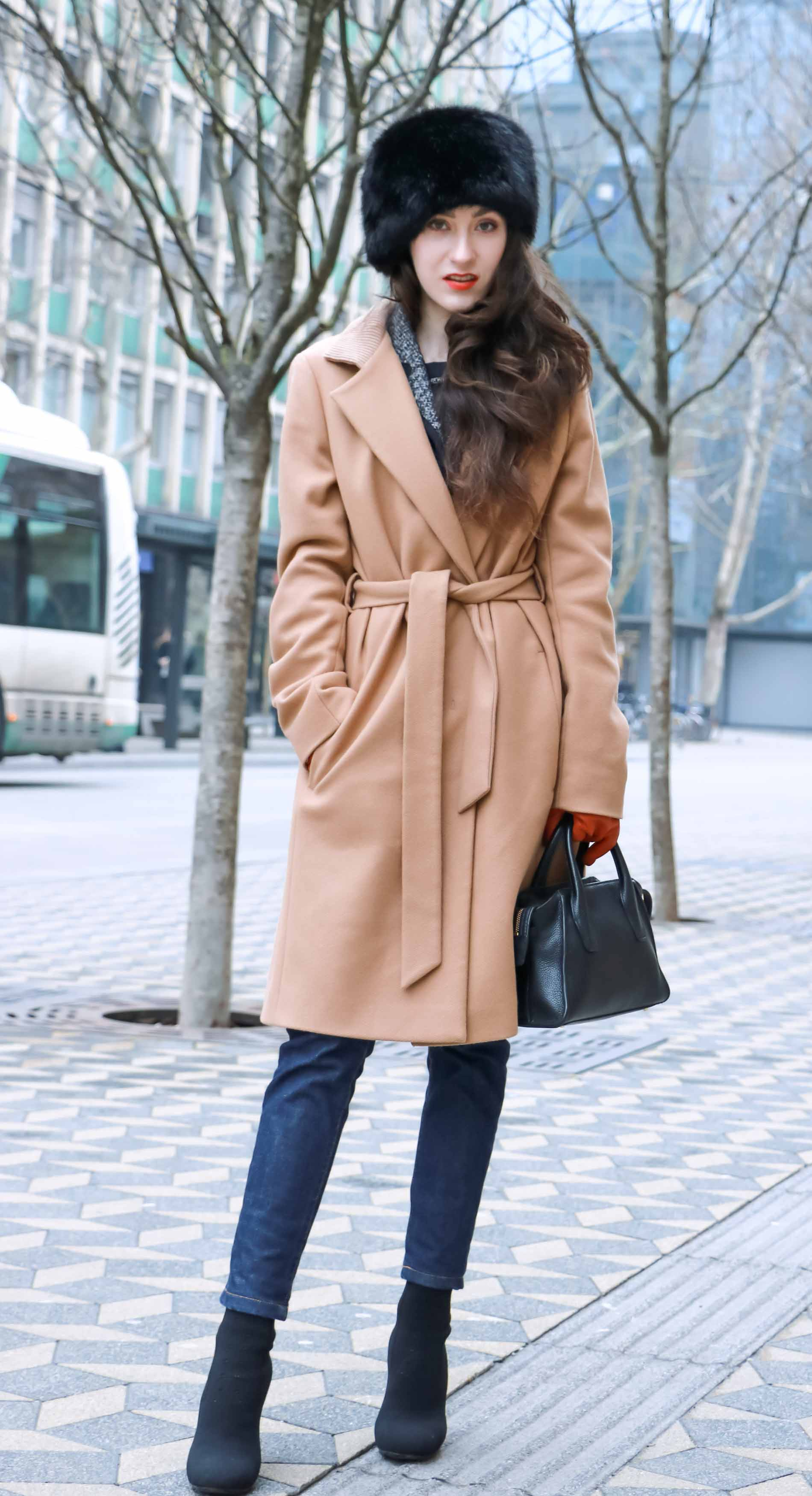 Fashion Blogger Veronika Lipar of Brunette from Wall Street wearing her everyday winter outfit