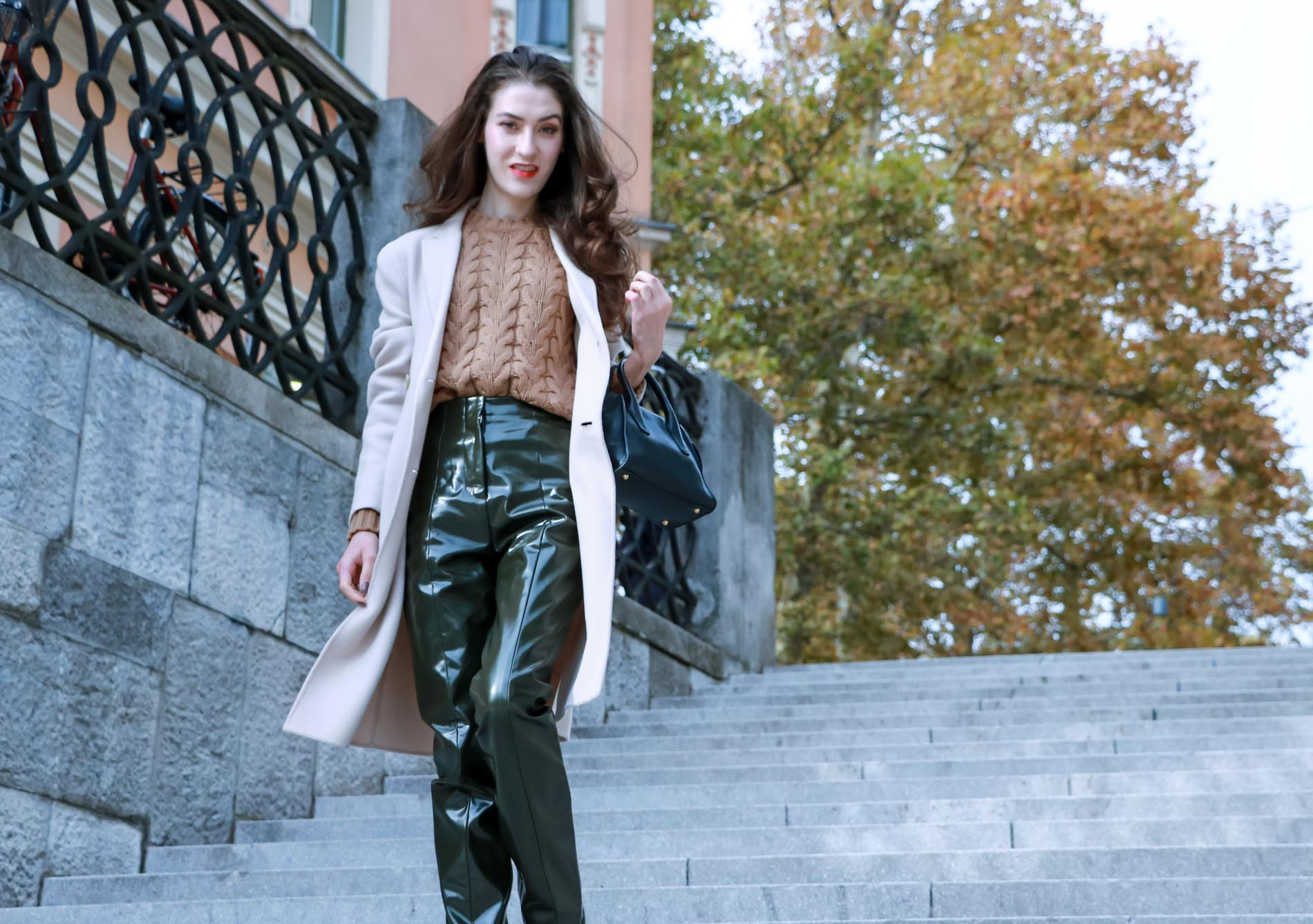 Fashion Blogger Veronika Lipar of Brunette from Wall Street wearing chic winter work outfit
