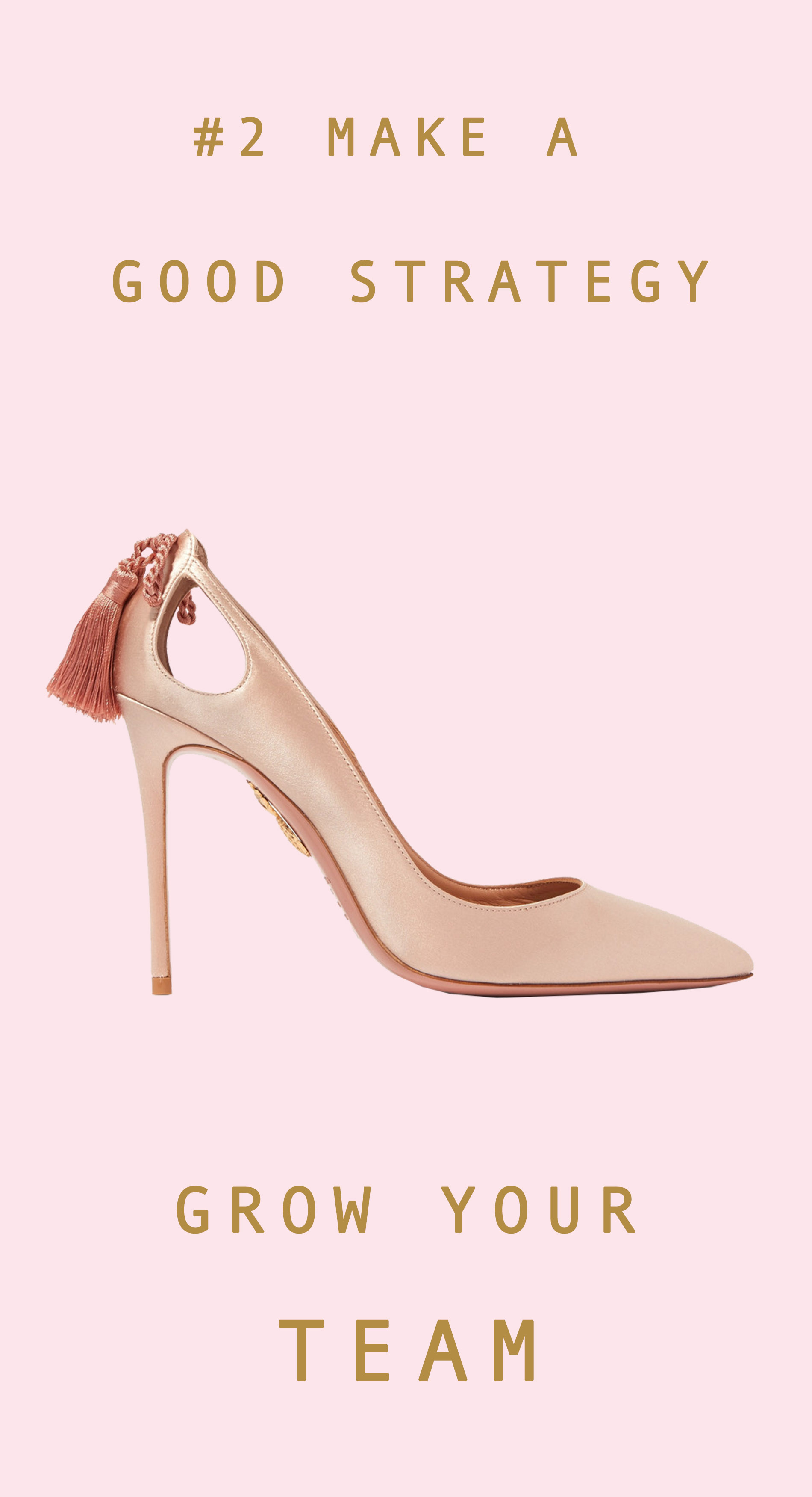 Aquazzura rose gold pumps