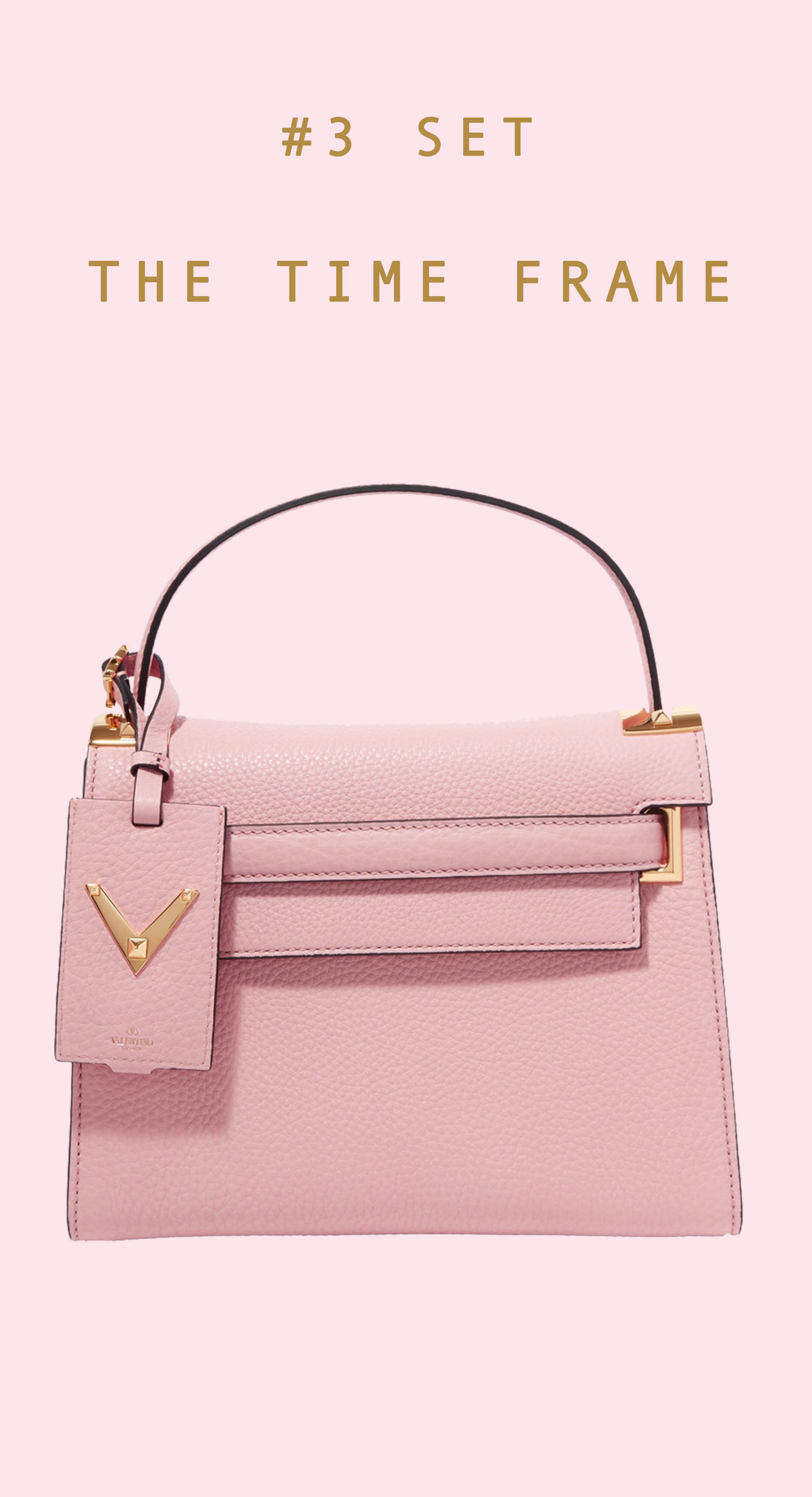Pink Valentino top handle bag