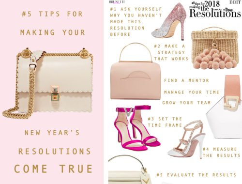 Fashion Blogger Veronika Lipar of Brunette from Wall Street sharing how to make New Year's resolutions happen