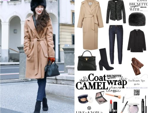 How to style dark denim jeans, sock boots and camel coat