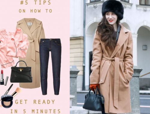 Fashion Blogger Veronika Lipar of Brunette from Wall Street on what to wear when running late
