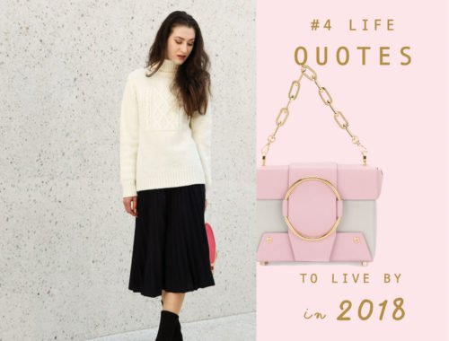 Fashion Blogger Veronika Lipar of Brunette from Wall Street sharing 4 life quotes to live by in 2018