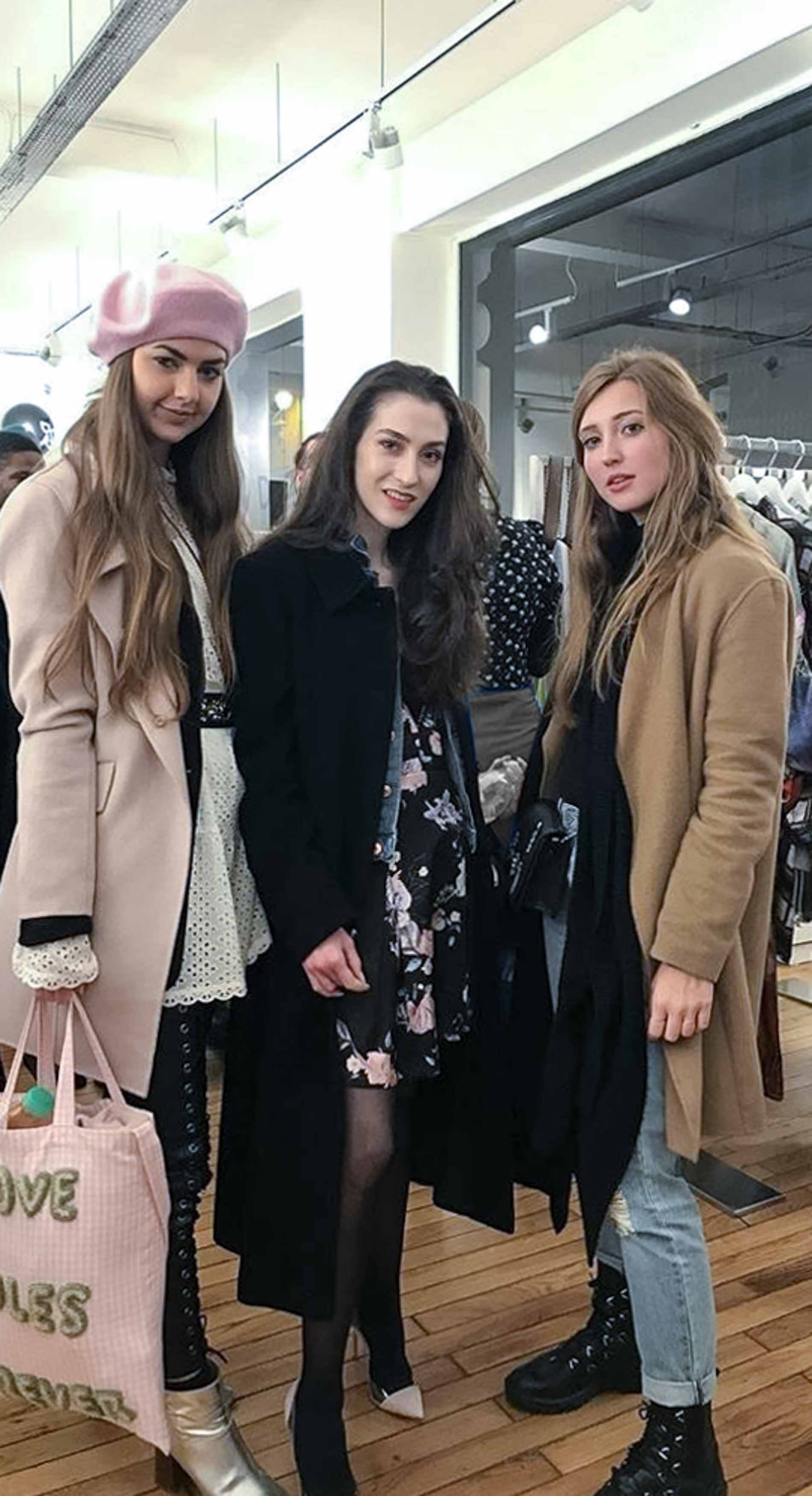 Fashion Blogger Veronika Lipar of Brunette from Wall Street, lifestyle blogger Elena of Elena Zahir, fashion blogger Carmen Jenny of Carmitive during Autumn Winter 2018/19 Paris Fashion Week