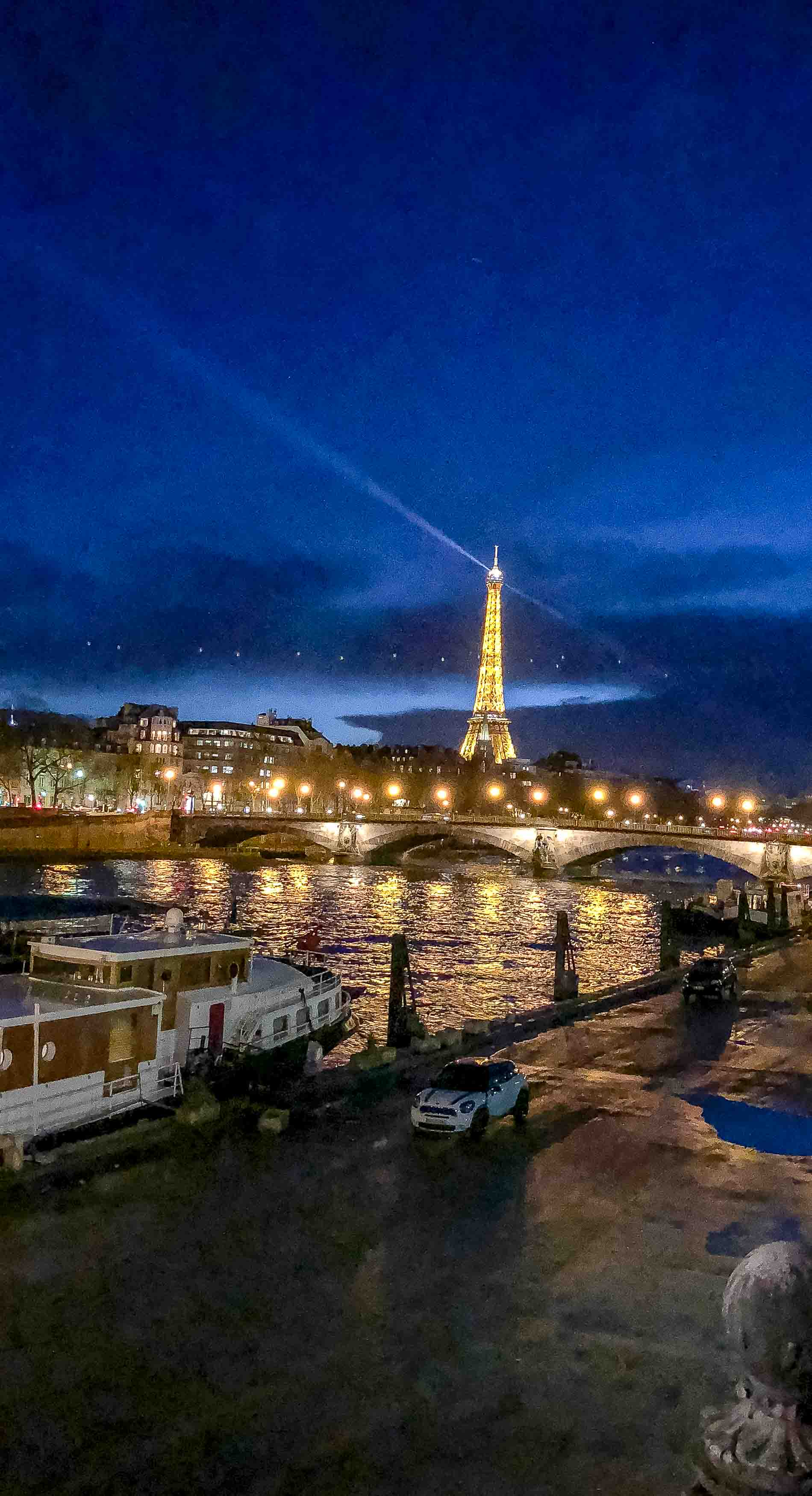 Fashion Blogger Veronika Lipar of Brunette from Wall Street sharing photos of Paris Eiffel Tower at night she took in between the shows during Autumn Winter 2018/19 Paris Fashion Week
