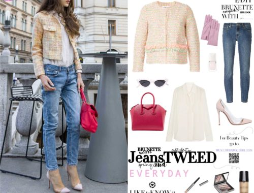 How to style tweed jacket and jeans