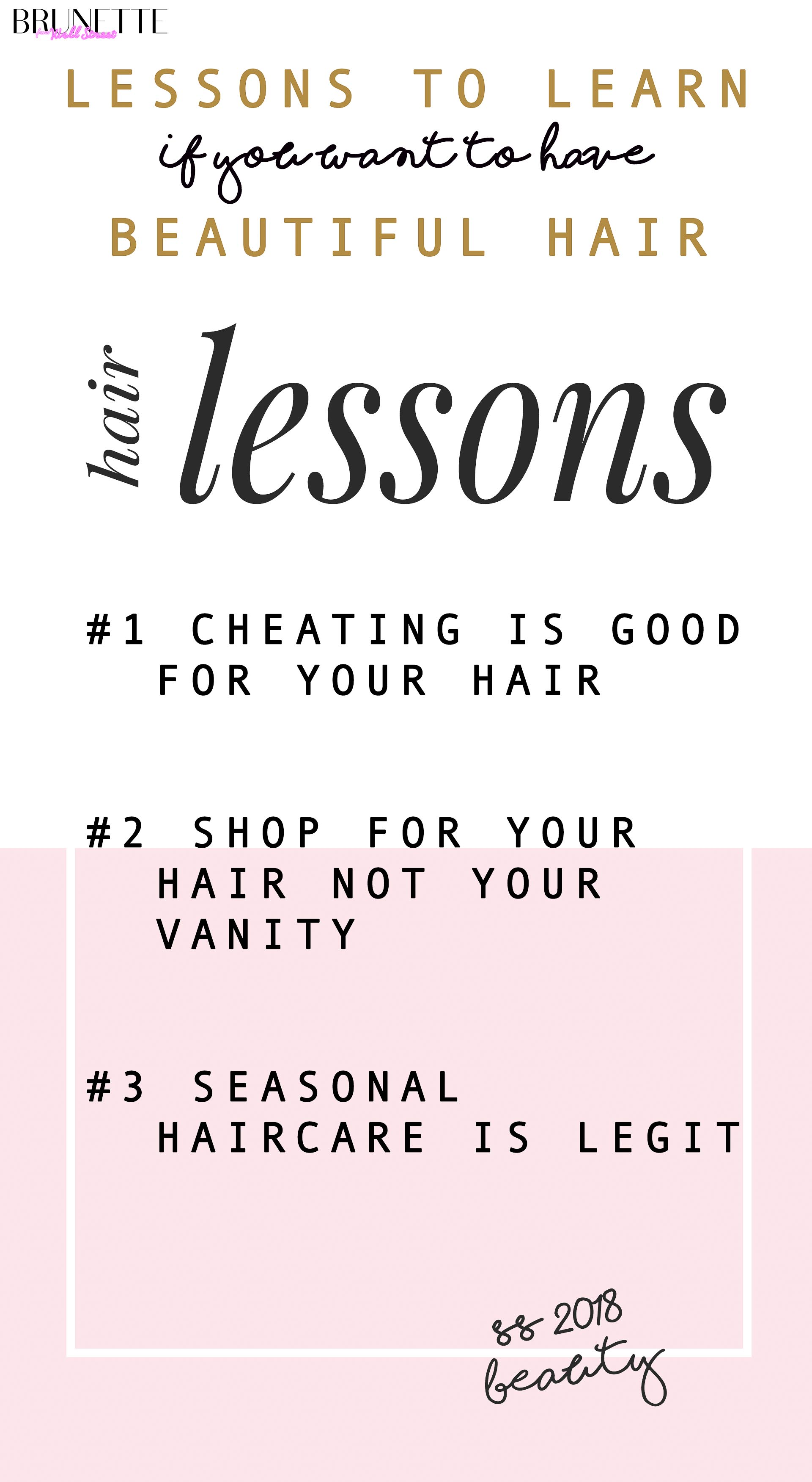 list of Lessons to learn if you want beautiful hair