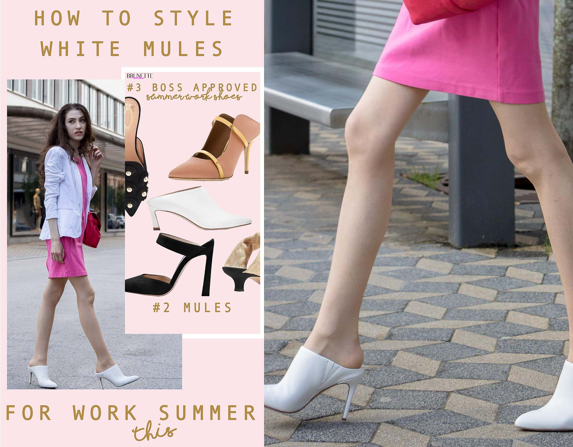 How to style white mules for work this summer to look put together