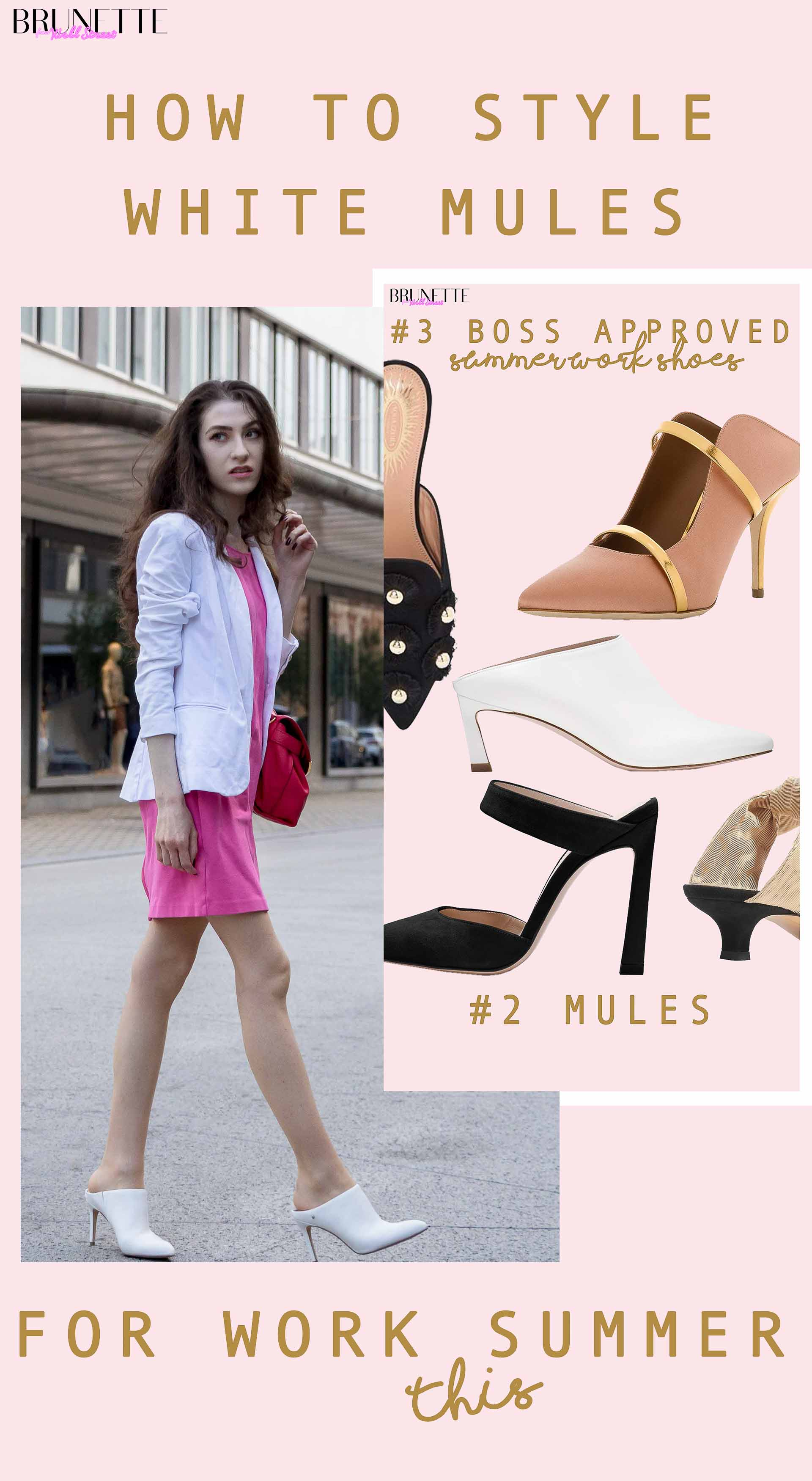 How to style white mules for work this summer