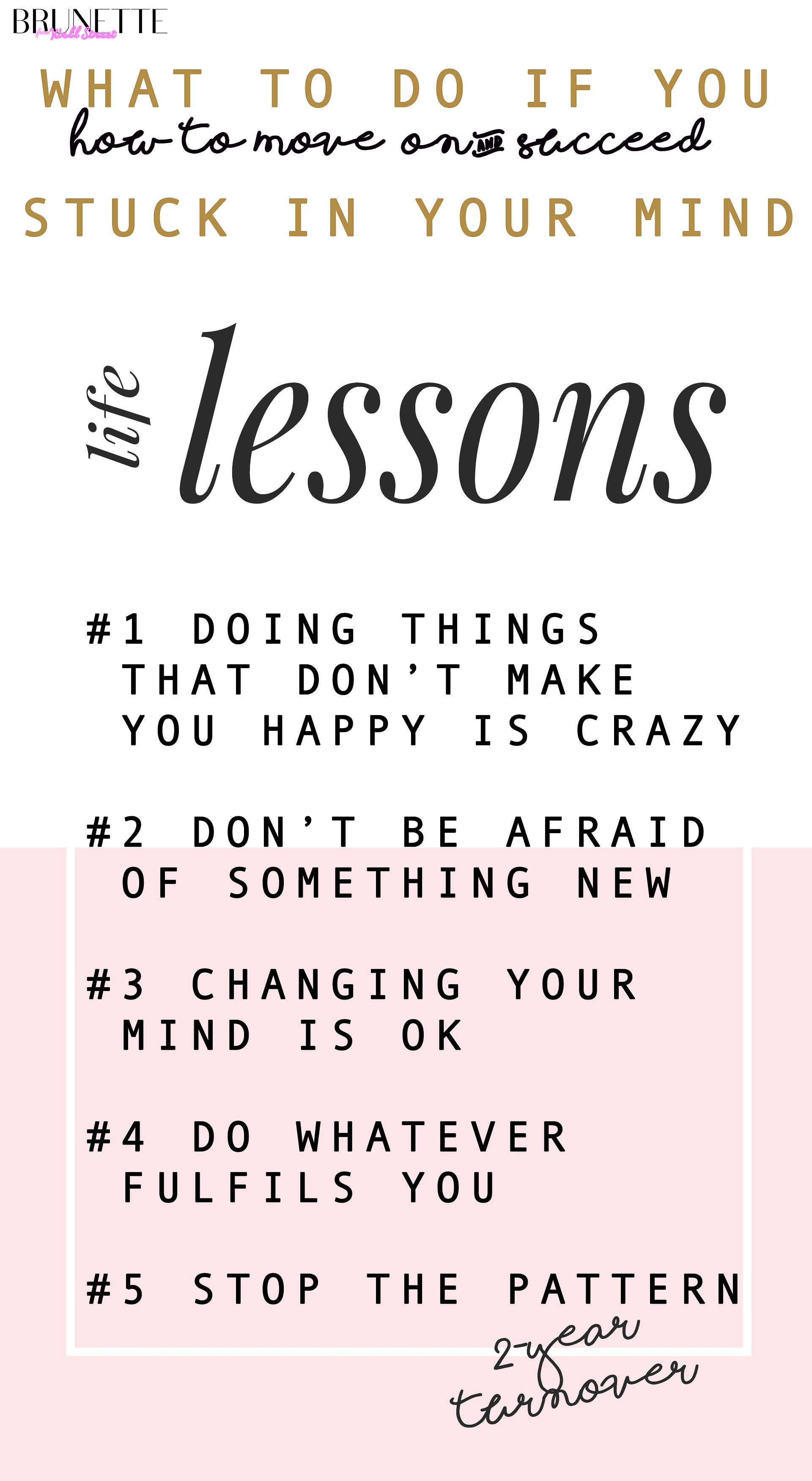 life lessons you need to learn if you feel being stuck