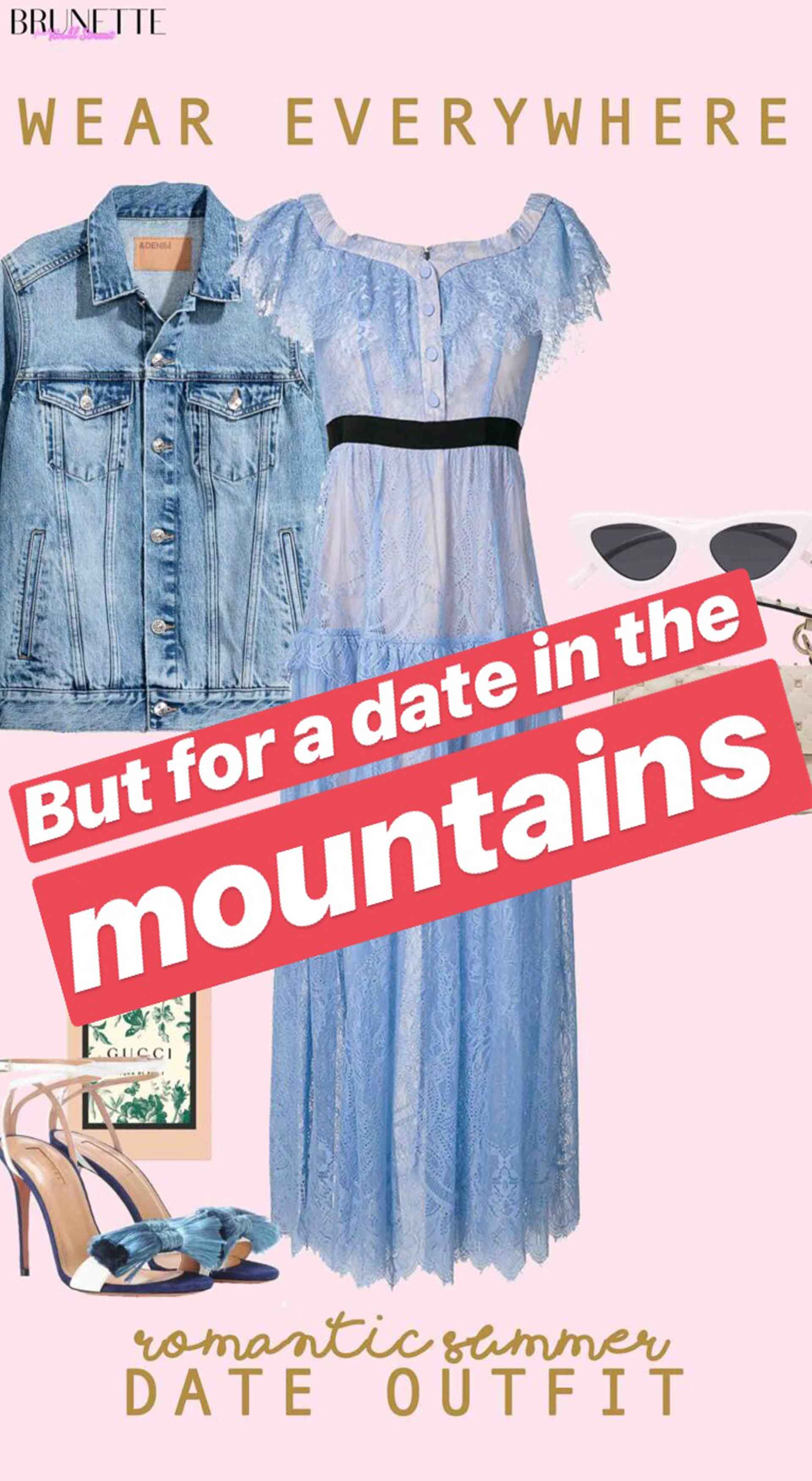 wear everywhere romantic summer date outfit but for a date in the mountains