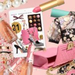 Brunette from Wall Street Best birthday gifts Chanel bag Self-Portrait dress Gucci lipstick makeup champagne