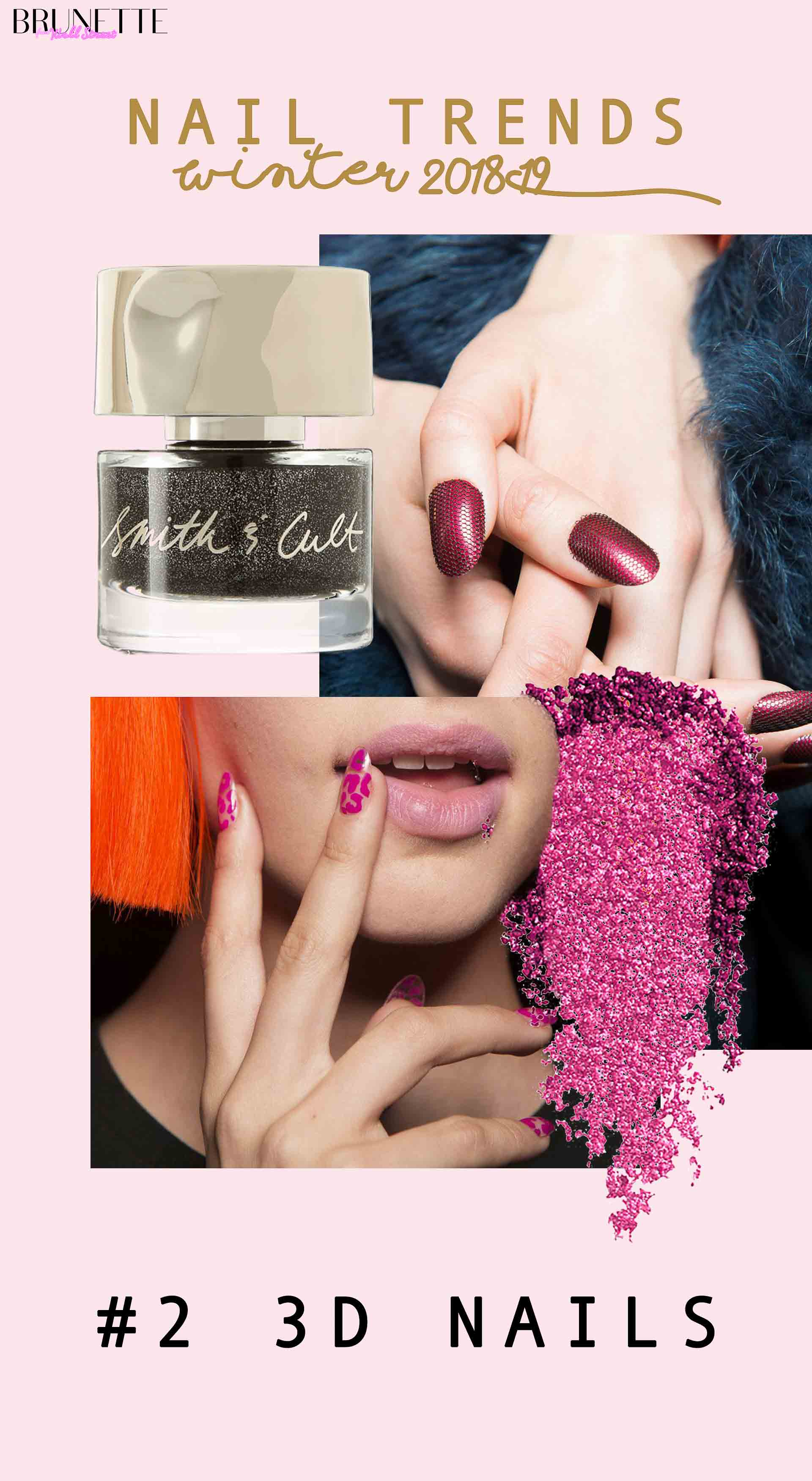 nail trends winter 2018 #2 3D nails