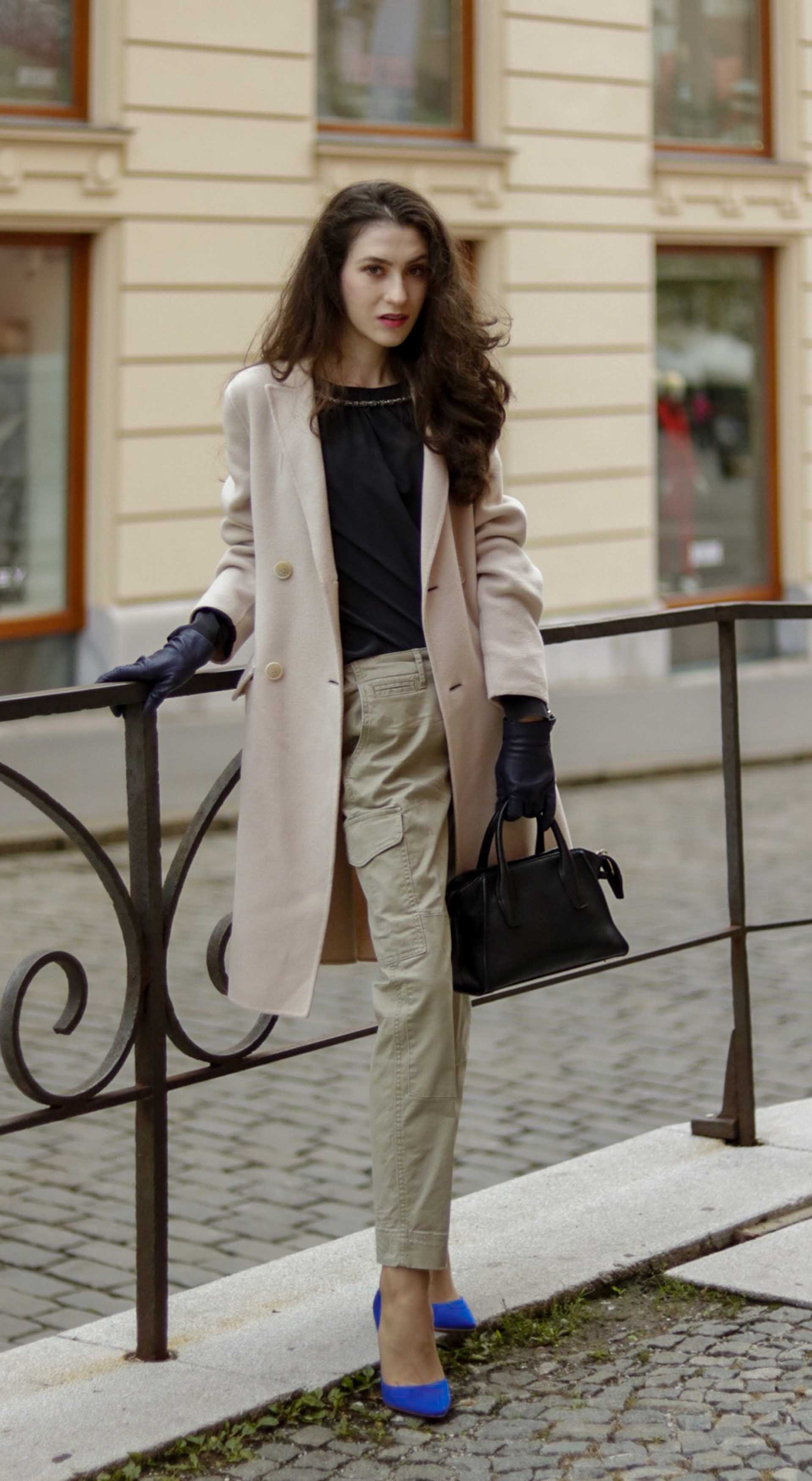 168f3114aade Beautiful Slovenian Fashion Blogger Veronika Lipar of Brunette from Wall  wearing Weekend Max Mara double-