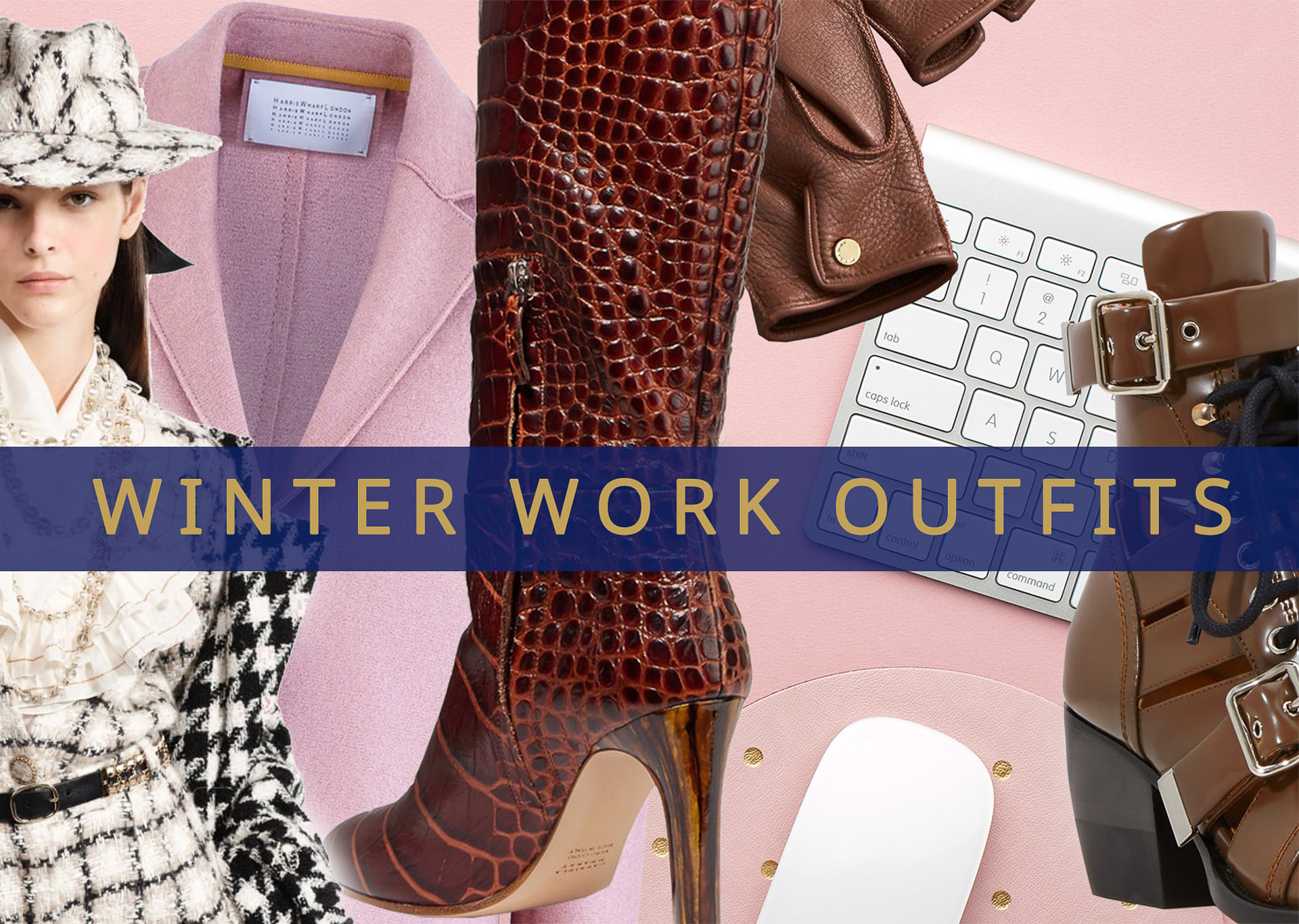 Brunette from Wall Street winter work outfits