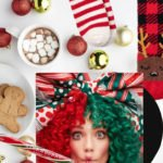 Brunette from Wall Street funny Christmas Gifts Christmas socks candy cane Sia Everyday is Christmas hot chocolate marshmallow baubles gingerbread cookies